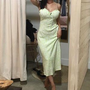 COTTON CANDY LA GREEN FLORAL SUN DRESS